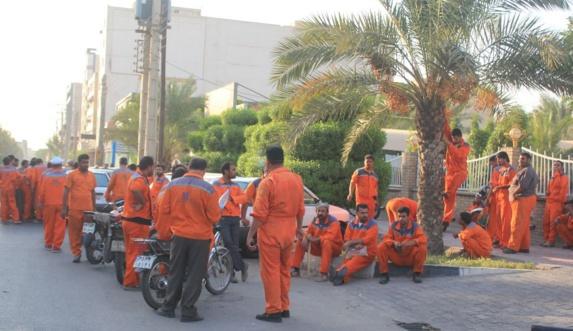 اعتراضات کارگران در الاحواز (خوزستان)