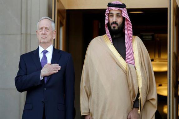 وزیر دفاع آمریکا: پرتاب موشک های ایرانی توسط حوثی ها به سوی خاک سعودی باید متوقف شود