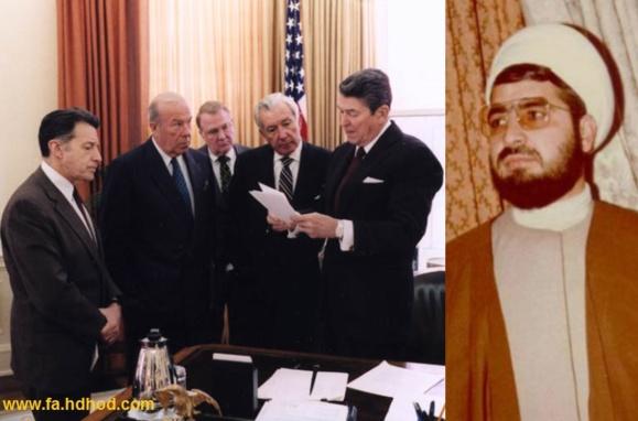 نقش حسن روحانی در ایران گیت- گزارش دیدار او با مک فارلین و اولیور نورت بمنظور معامله برسر آزادی گروگانها امریکائی در لبنان