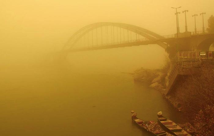 افزایش غلظت گرد و غبار در «الاحواز» به بیش از 7 برابر حد مجاز