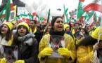 عکسهای اعتراضي اپوزسیون ایرانی به حضور حسن روحانی در سازمان ملل