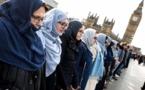 حضور و همبستگی زنان مسلمان با قربانیان حمله تروریستی لندن
