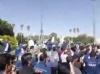 تجمع و راهپیمایی همزمان گروه ملی اهواز و بازنشستگان صنايع فولاد در مقابل استانداری