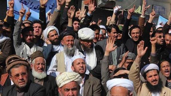 تجمع اعتراضی در افغانستان علیه رفتارتوهین آمیزرژیم ایران