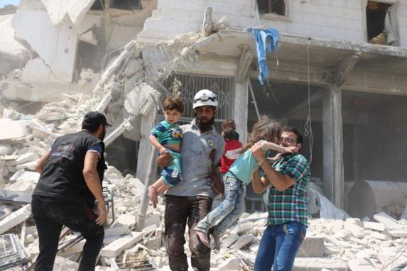 کشته و زخمی شدن 41 غیرنظامی در حملات هوایی رژیم اسد در حلب
