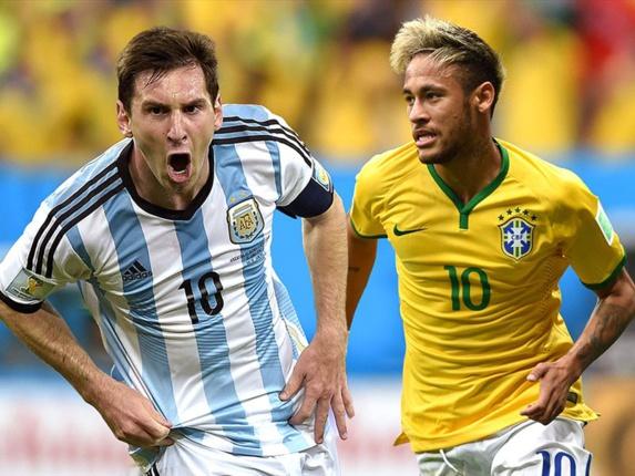 دیدارتیم برزیل -آرژانتین برای تلاش صدرنشینی به جام جهانی