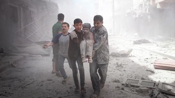 کشته وزخمی شدن ده ها غیرنظامی درحلب نتیجه حملات جنگنده های روسیه