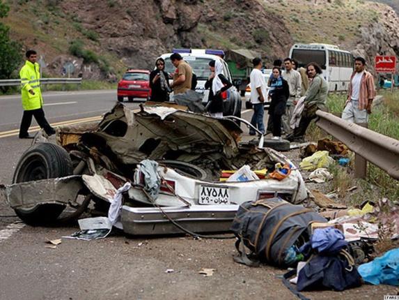 کشته شدن یک نفر در هر ساعت بر اثر تصادف در جاده های ایران