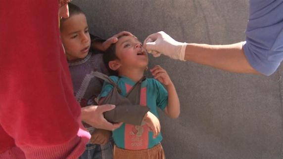 خطر شیوع بیماری فلج اطفال در منطقه دیرالزور سوریه