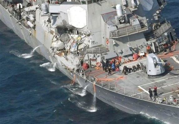 ناپدید شدن 7 ملوان ناو جنگی آمریکا در سواحل ژاپن