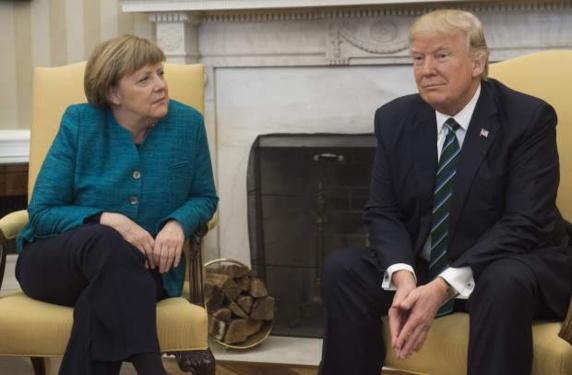 دونالد ترامپ و آنگلا مرکل فعالیتهای مخرب ایران را مورد گفتگو قرار دادند