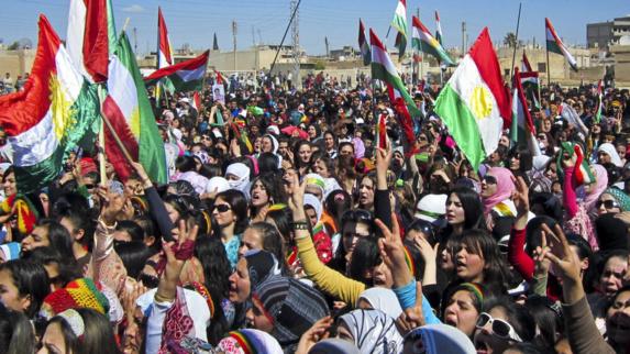 تظاهرات گسترده مردم کوردستان در اعتراض به حضور حشد الشعبی در کرکوک