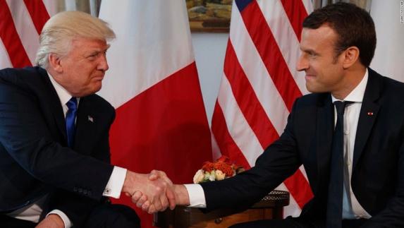 کاخ سفید: توافق ترامپ و ماکرون بر لزوم مقابله با اقدامات مخرب ایران و حزب الله