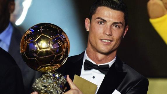 رونالدو برای پنجمین بار برنده توپ طلای فوتبال اروپا شد