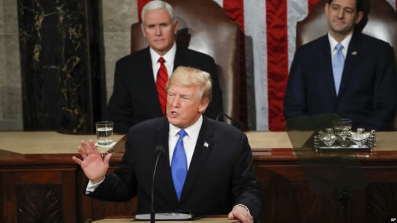 اشاره ترامپ به ایران در نخستین گزارش سالانه کنگره: در کنار مردم ایران ایستادیم