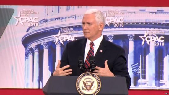 مایک پنس در کنفرانس محافظهکاران آمریکا: دیگر توافق فاجعهبار ایران را تایید نمیکنیم