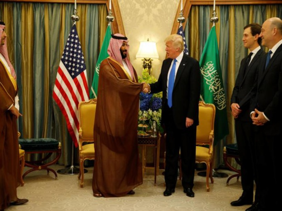 شاهزاده محمد بن سلمان در سومین ایستگاه سفر تاریخی خود وارد واشنگتن شد