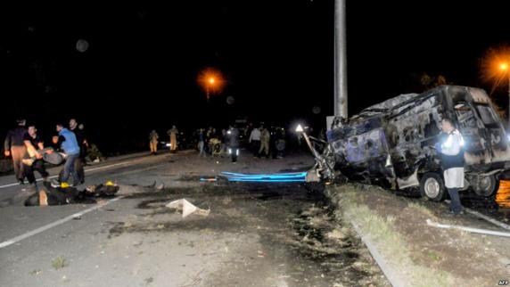 تصادف مرگبار مینی بوس مهاجران غیرقانونی از ایران و چند کشور دیگر در ترکیه