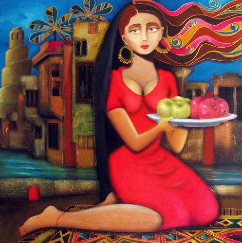تابلویی از ناصر ثامر نقاش عراقی