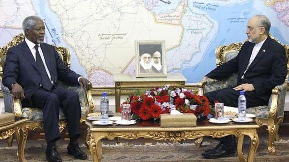 کوفی عنان در تهران: ایران بخشی از راه حل بحران سوریه باشد