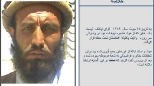 فرمانده مورد تعقیب طالبان برای گرفتن جایزه یکصد هزار دلاری خود را تسلیم کرد