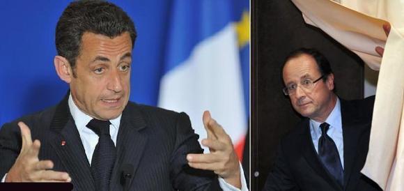 فرانسوا اولاند در دور نخست انتخابات ریاست جمهوری فرانسه از سارکوزی پیشی گرفت
