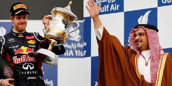 ولیعهد بحرین و فیتال برنده جایزه مسابقه فرموا یک 2012