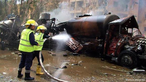 در انفجار دیرالزور سوریه دستکم ۹ نفر کشته و دهها نفر زخمی شدند