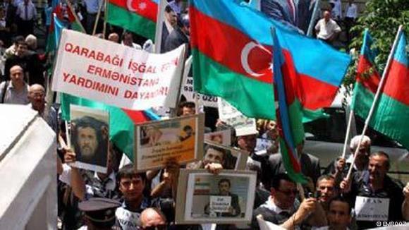 تظاهرات واکنشی مردم معترض جمهوری آذربایجان در برابر سفارت ایران در باکو در تاریخ ۱۱ مه (۲۲ اردیبهشت) با شعارهای شدید علیه علی خامنهای، رهبر جمهوری اسلامی و دخالتهای ایران در جمهوری آذربایجان و منطقه