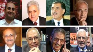 نامزدهایی با گرایش ها و برنامه های گوناگون برای کسب رهبری پر جمعیت ترین کشور عرب رقابت کرده اند
