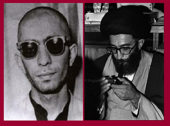 سمت چپ عکسی که از آیت الله خامنهای در کتاب «شرح اسم» منتشر شده