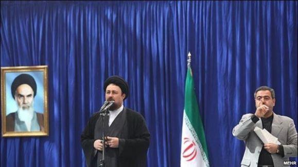 شعار علیه حسن خمینی و احمدینژاد در سالگرد درگذشت آیتالله خمینی