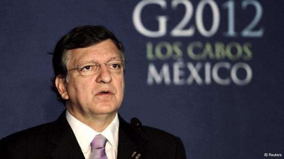 ژوزه مانوئل باروسو، رئیس کمیسیون اتحادیهی اروپا از انتقادات گروه بیست در مکزیک برآشفت