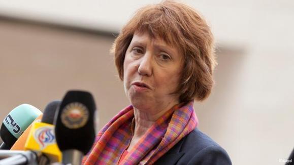 کاترین اشتون، مسئول سیاست خارجی اتحادیه اروپا در لوکزامبورگ