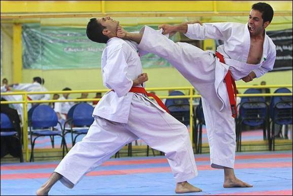 کاراته باز ایرانی پس از شکست با داور ژاپنی در گیر شد