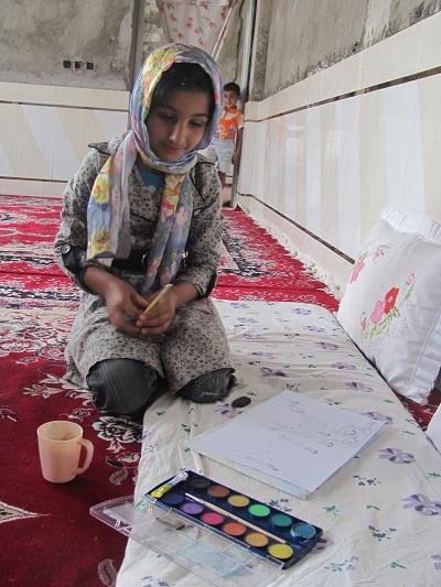 لالايي حديث ،کودک نقاش اهوازی را بلاروس بهتر شنيد