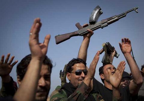 عکس آرشیوی انقلابیون لیبی