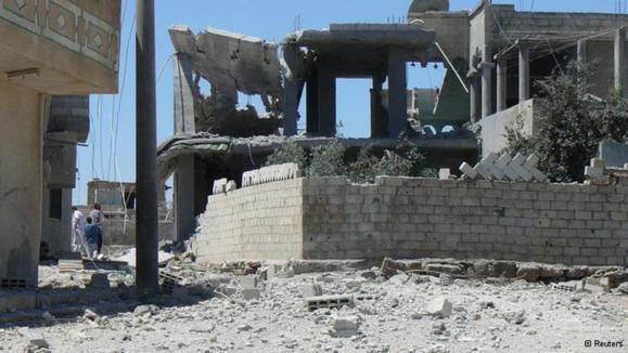 قتلعام ارتش سوریه در نزدیکی دمشق