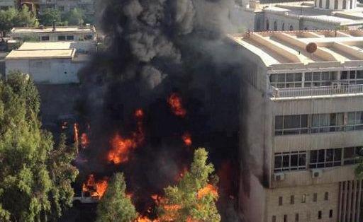 'ساختمان ستاد مشترک ارتش سوریه' هدف حمله قرار گرفت