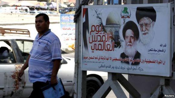 تصاویر خامنه ای، ابزار جدید تبلیغات ایران در عراق