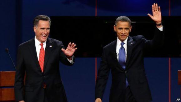 اولین مناظره باراک اوباما و میت رامنی برگزار شد