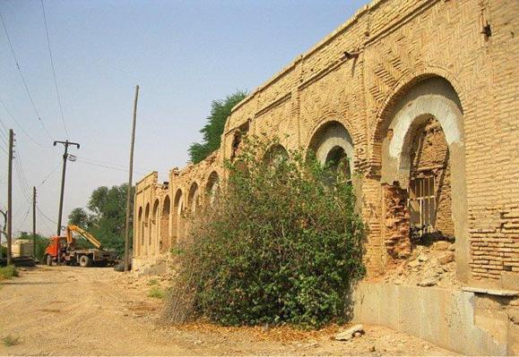 بیلهای مکانیکی به جان قصر شیخ خزعل در حمیدیه افتادند