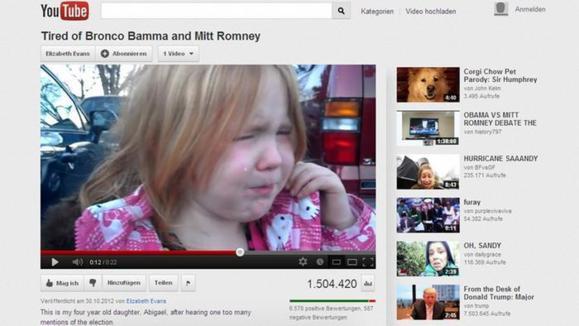 اوباما و رامنی اشک دختربچه ۴ ساله را درآوردند