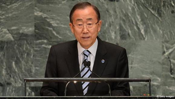 درخواست بان کیمون از اسرائیل و حماس برای پایبندی به آتشبس
