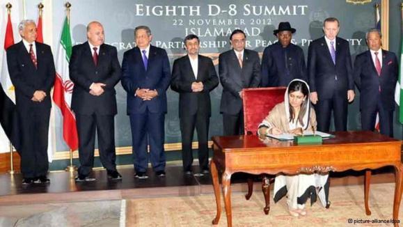تاکید سران سازمان همکاری هشت کشور در حال توسعه بر گسترش همکاریها
