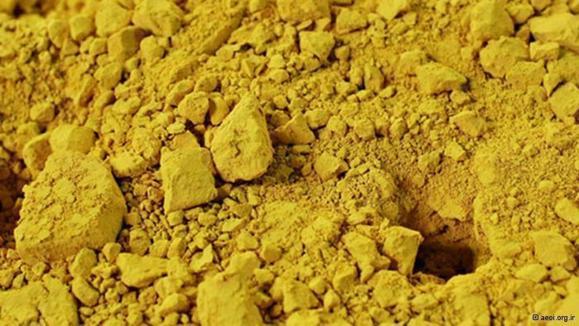 کیک زرد (اكسید اورانیوم) همان سنگ اورانیوم پودر شده با درجه خلوص بیشتر است