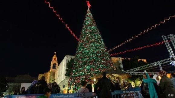 مراسم جشن کریسمس در بیتلحم