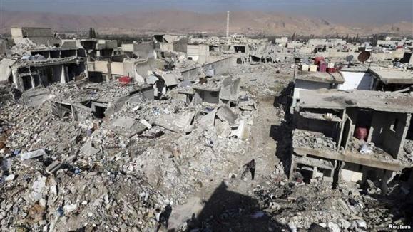«بیش از صد کشته» در حمله به منطقهای در شهر حمص