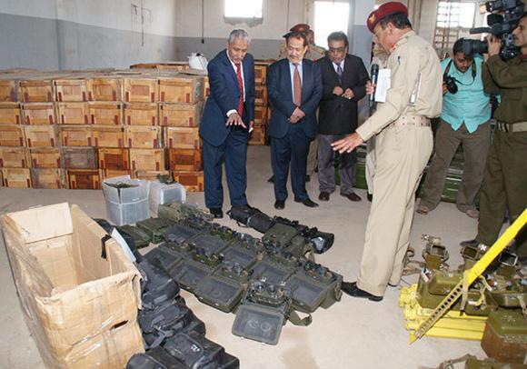 وزارت خارجه آمريکا می گويد سلاح های ايرانی کشف شده در يمن تهديدی عليه اين کشور و منطقه است