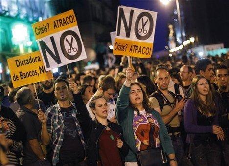بيست شهر پرتغال شاهد تظاهرات اعتراضی به سياستهای اقتصادی دولت بود
